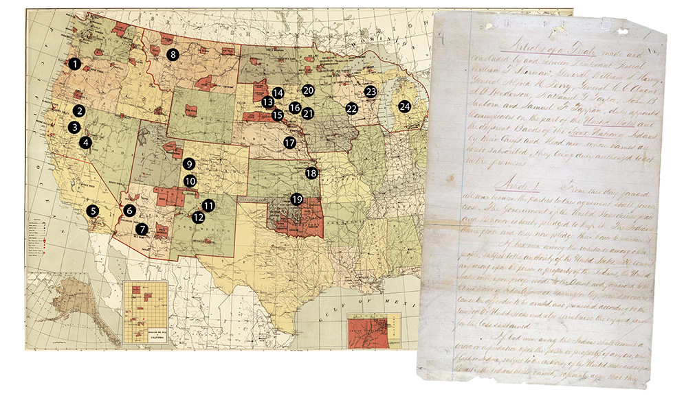 Map of Native American Boarding Schools
