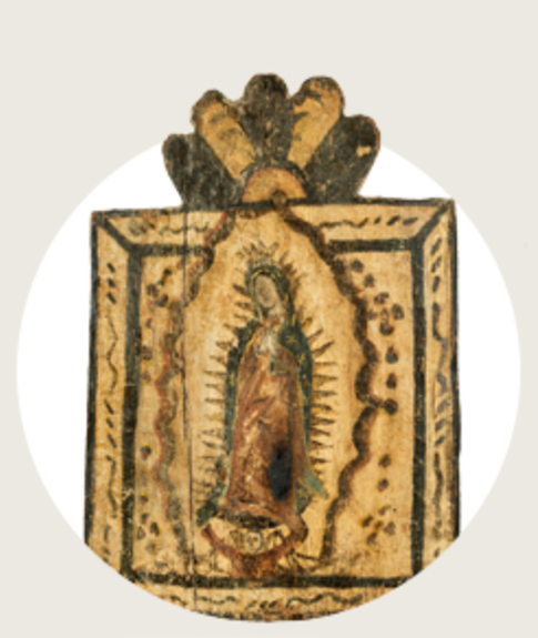 Retablo Devotional Image of the Virgin Mary