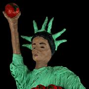Statue of Liberty carrying tomatoes