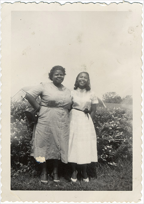 'Five Communities: Farmville, Virginia: Barbara Johns.' Image of Barbara Johns and her high school teacher.