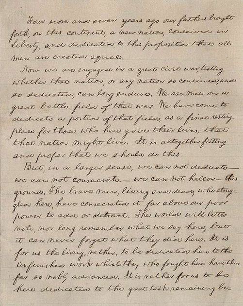 nmah albert h small documents gallery the gettysburg address
