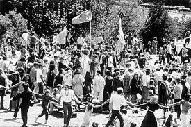 Easter Sunday Love In Malibu Canyon California 1968 This Was A Celebration Of The Counterculture Movement