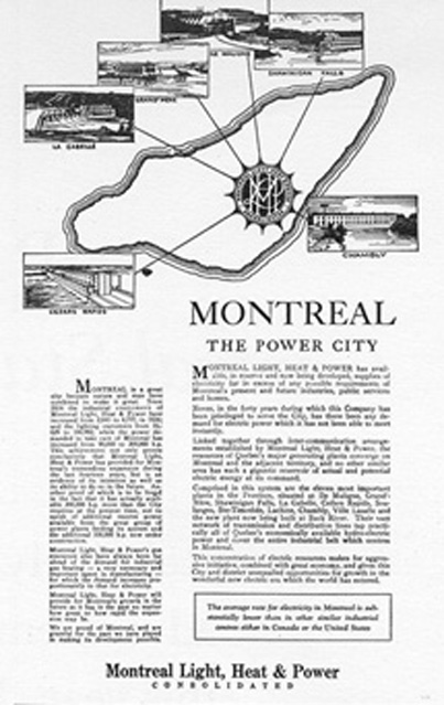 Drawings of 6 hydro-electric plants near <br />Montreal.
