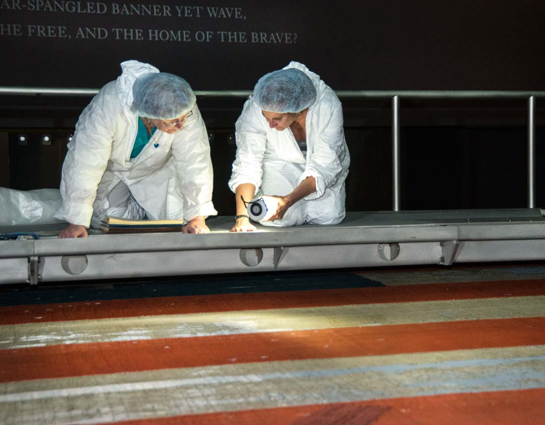 Conservation of the Star-Spangled Banner is made possible through donations like yours.
