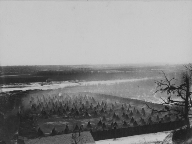 View of the Dakota encampment