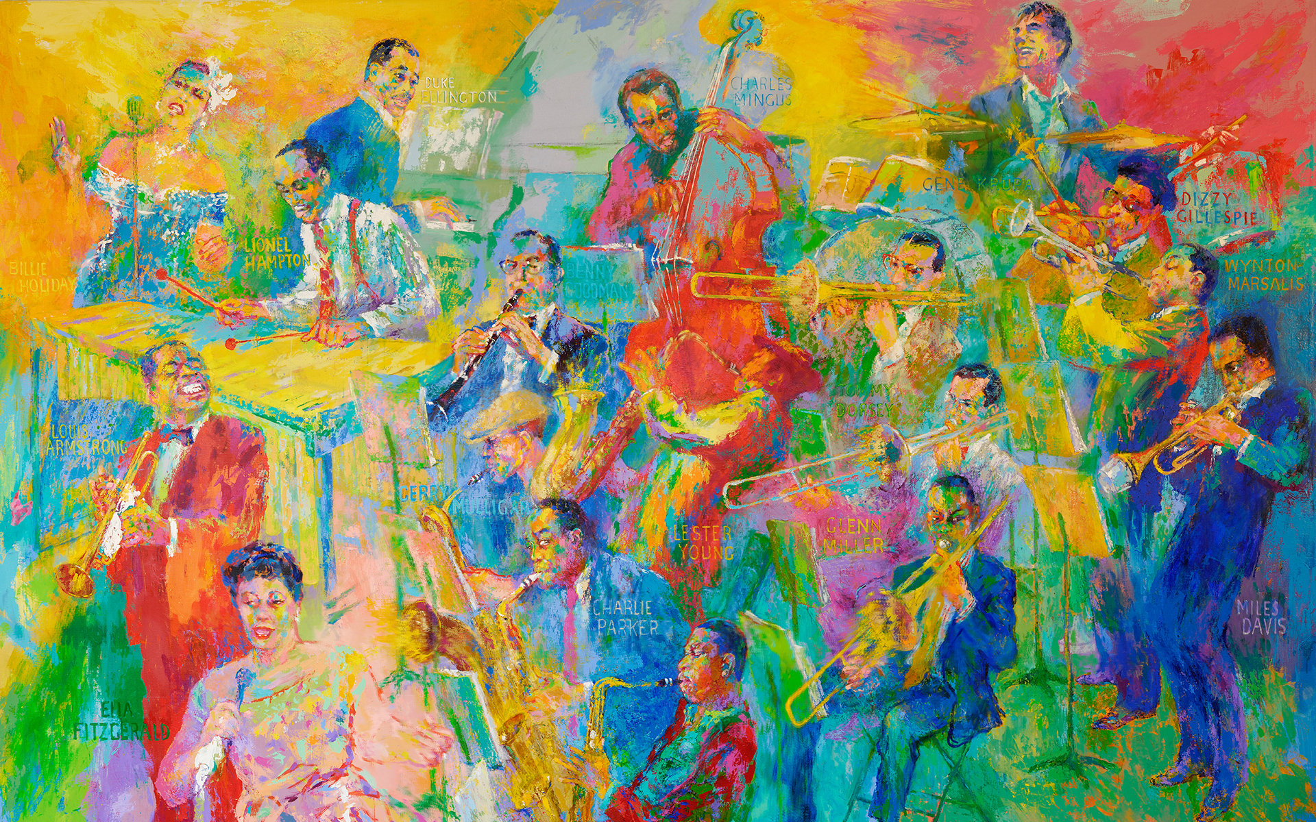 Leroy Neiman S Quot Big Band Quot Now On Display National Museum