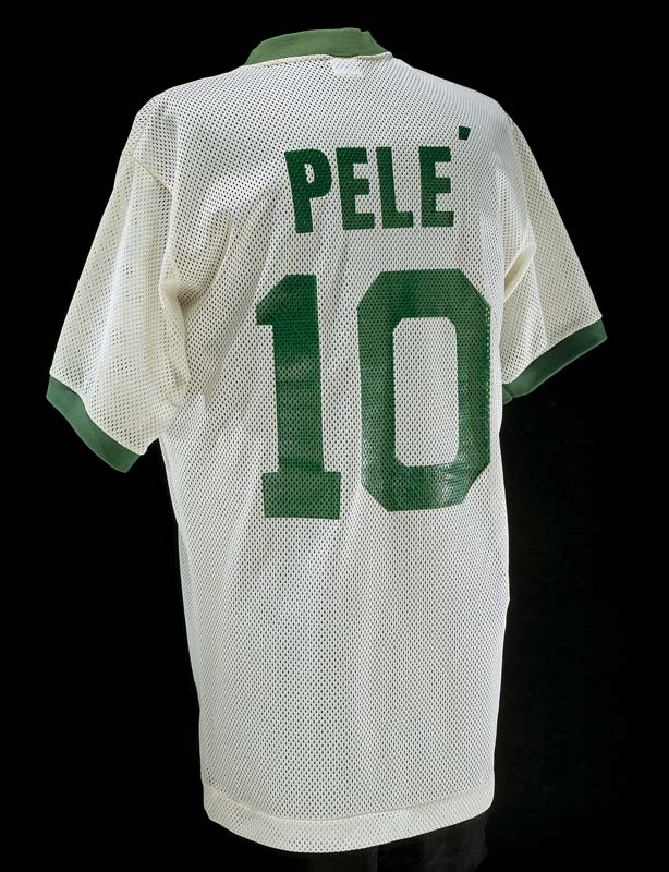 Soccer jersey with printed 'Pele' and number 10