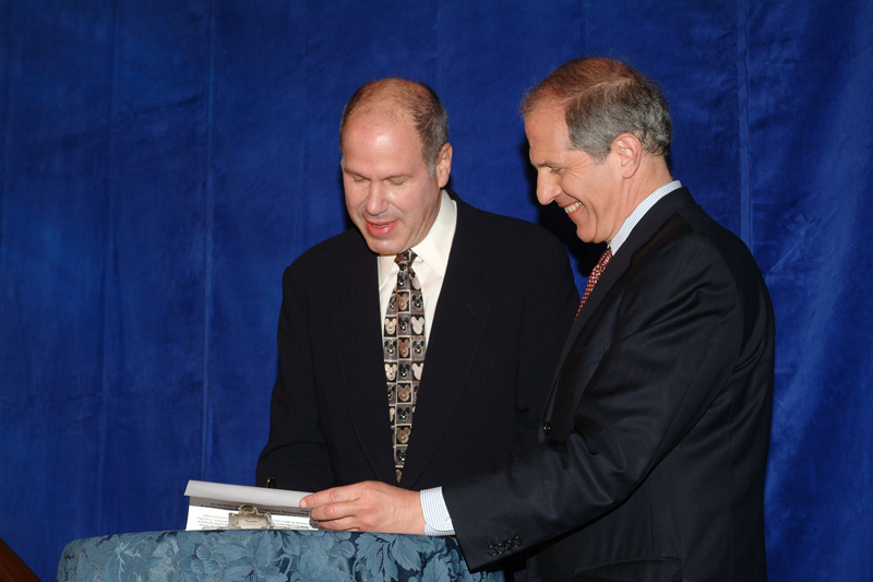 Michael Eisner and  Brent Glass