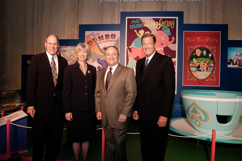 Michael Eisner, Gale Norton, Jay Rasulo, Mickey Mouse, and Larry Small