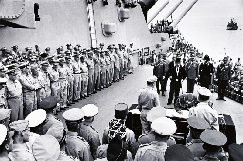 Surrender aboard USS Missouri