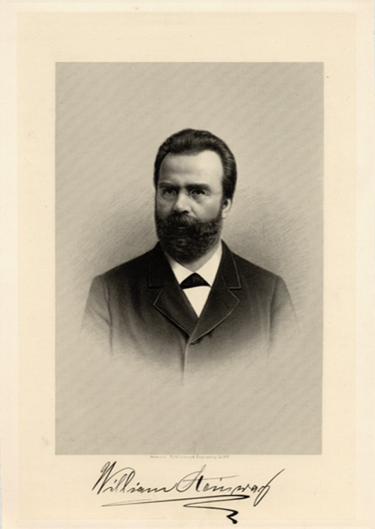 Signed photograph of William Steinway