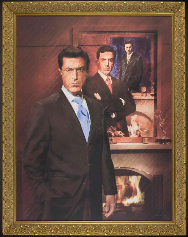Gag portrait of Stephen Colbert