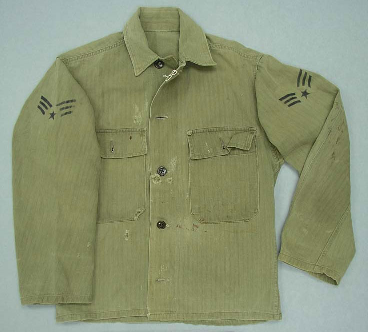 Uniform shirt, Model 1944, with post-1948 rank chevrons
