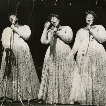 Triple-exposed photograph of Ella Fitzgerald
