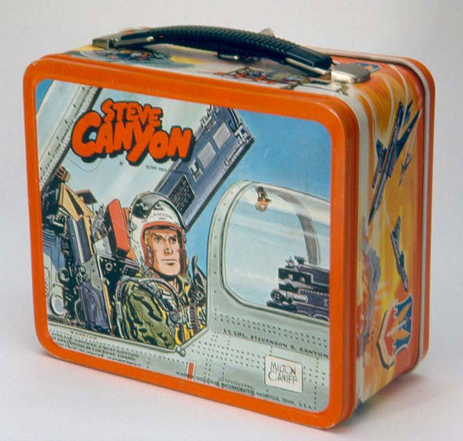 """Steve Canyon"" lunch box, 1959"