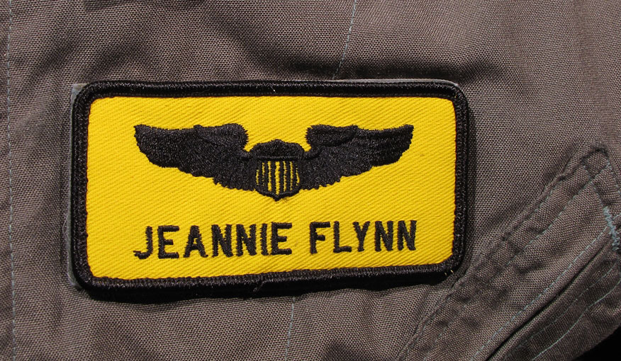 Lt. Jeannie Flynn flight suit name tag