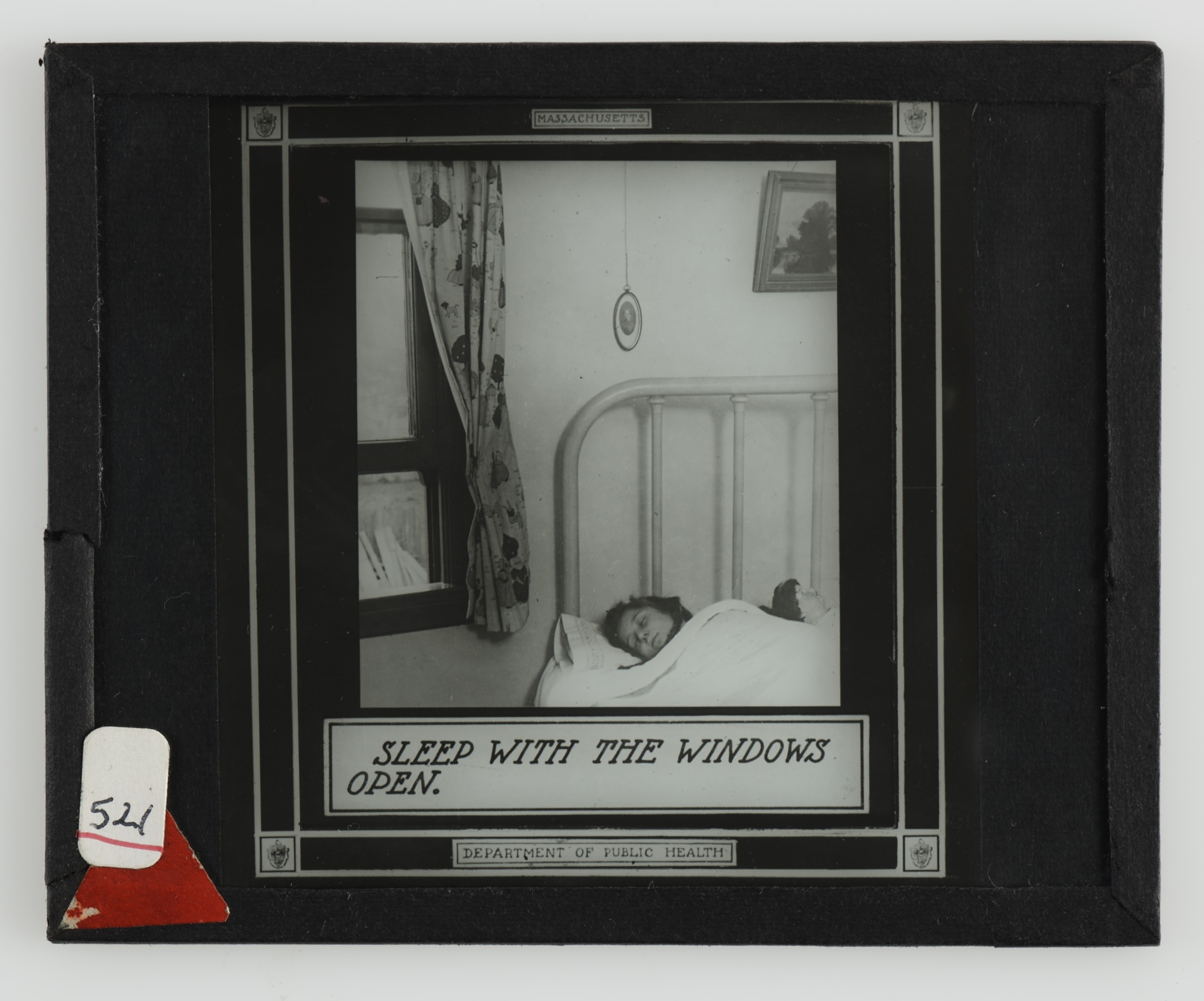 Lantern Slide, 'Sleep with the Windows Open'