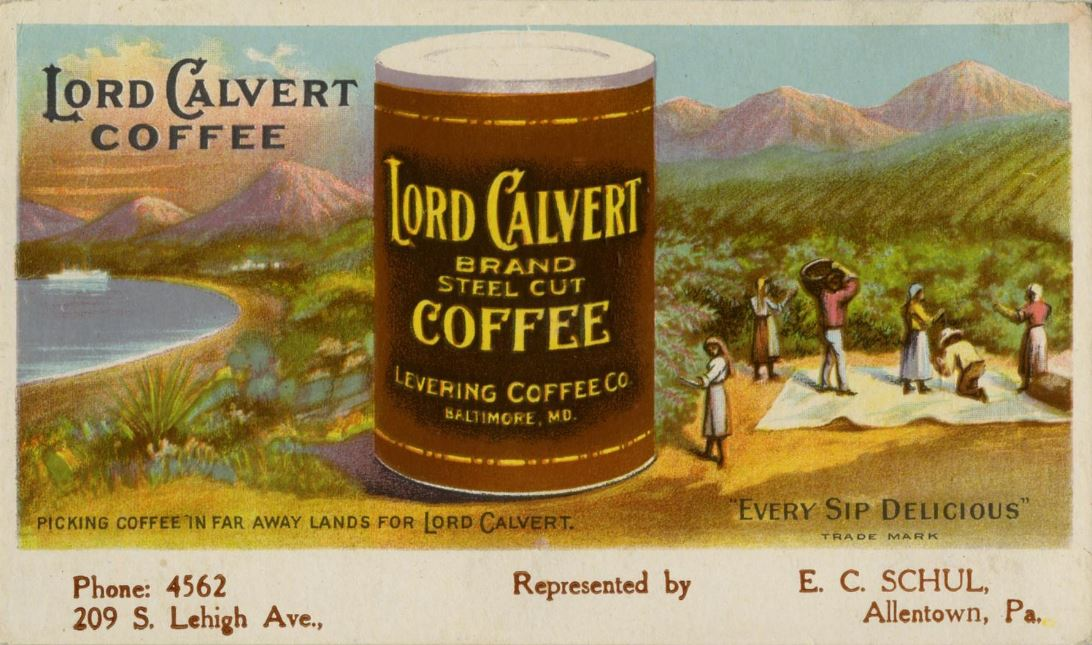 Advertisement for Lord Calvert Coffee
