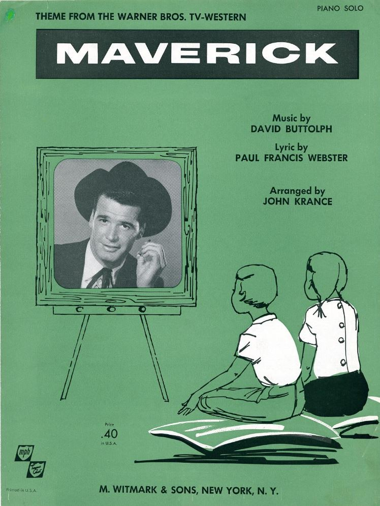 Sheet music for the theme song from 'Maverick'