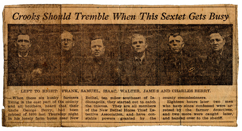Newspaper clipping from the early 1920s