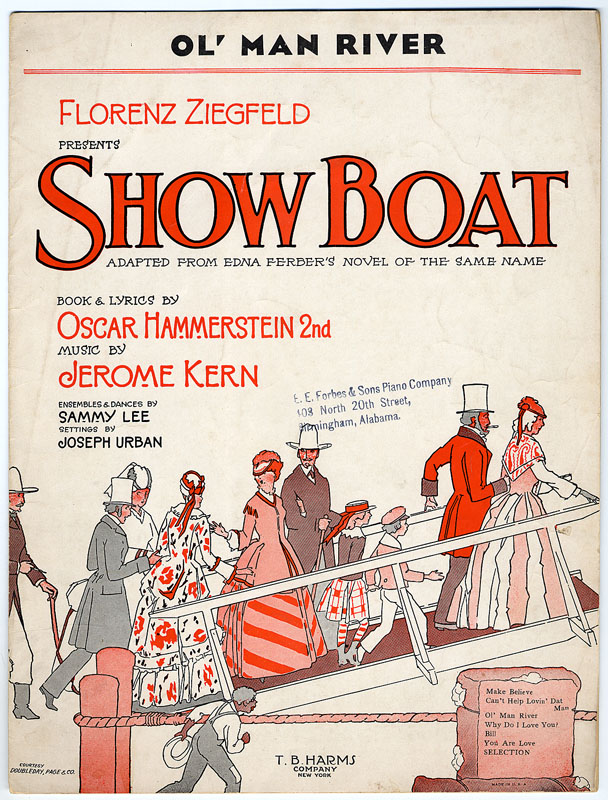Sheet music cover, titled Ol' Man River from Show Boat