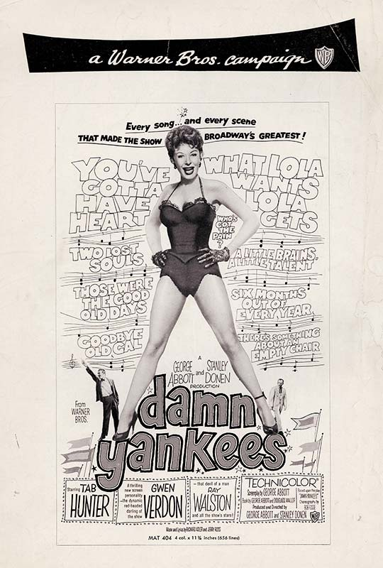 Promotion for 'Damn Yankees'