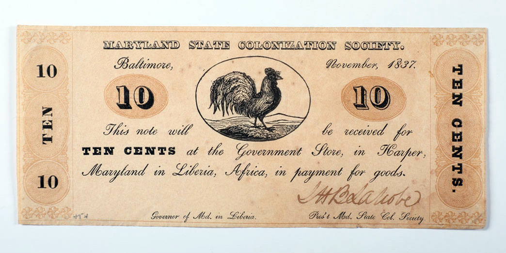 A note with a rooster on it.