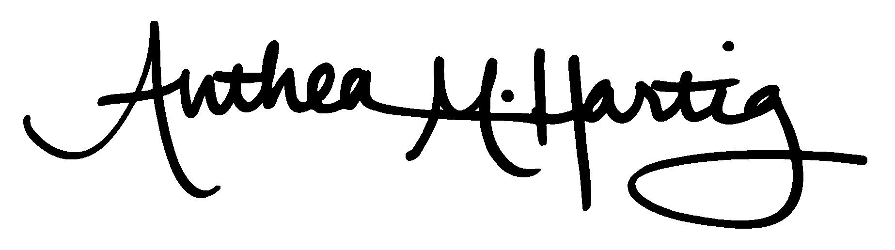 Anthea M. Hartig (signature)