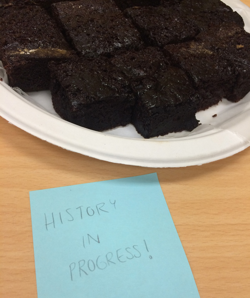 Black Magic cake made by museum staffer Kathy Sklar