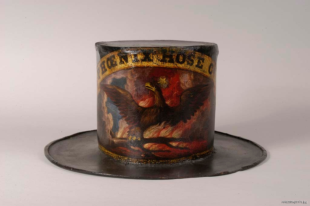 Fire hat made by David Bustill Bowser, mid-1800s