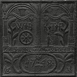cast iron plate, 1748