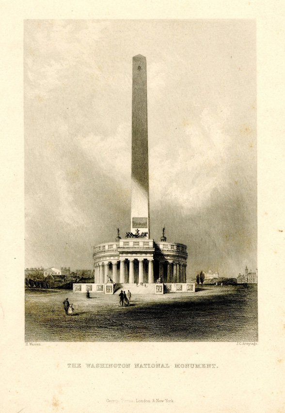 Conceptual drawing of Washington Monument