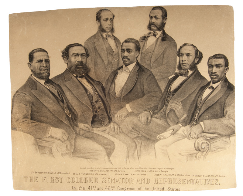 Lithograph of first black members of Congress