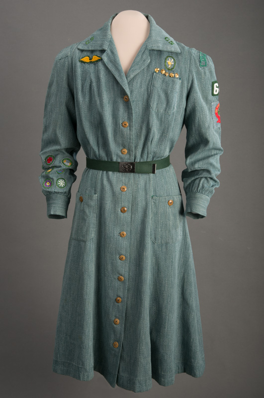 Green Girl Scout uniform