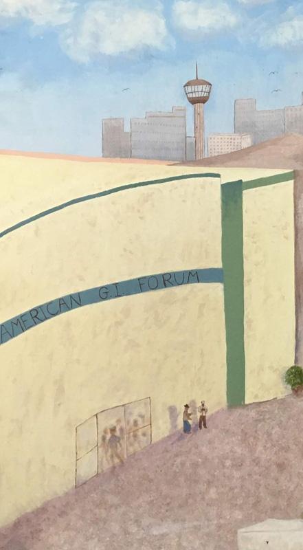 Detail of painting from Residential Center for Veterans (RCV), San Antonio