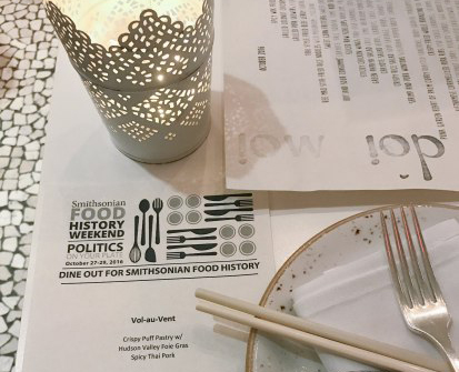 Menu and plate with candle
