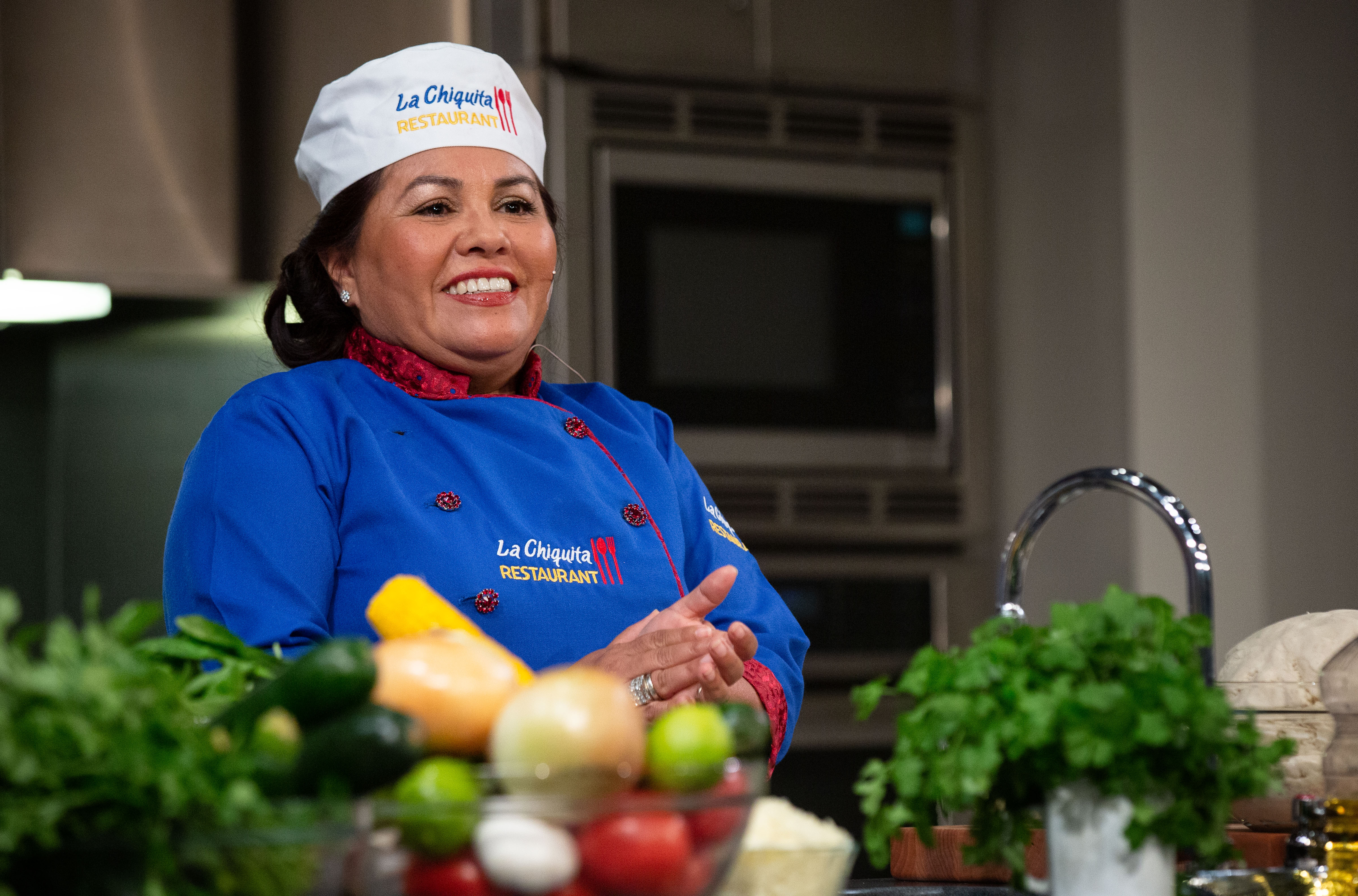 Dora Escobar During Cooking Up History at 2019 Smithsonian Food History Weekend