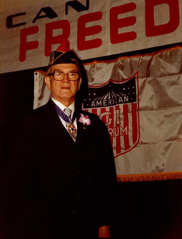 Dr. Garcia wearing medal of freedom