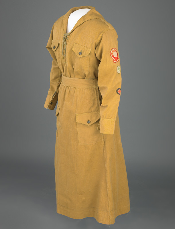 Khaki Girl Scout uniform