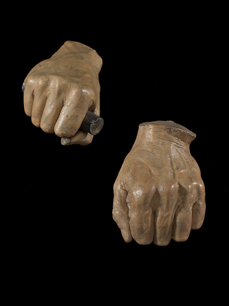 Plaster casts of Abraham Lincoln's hands