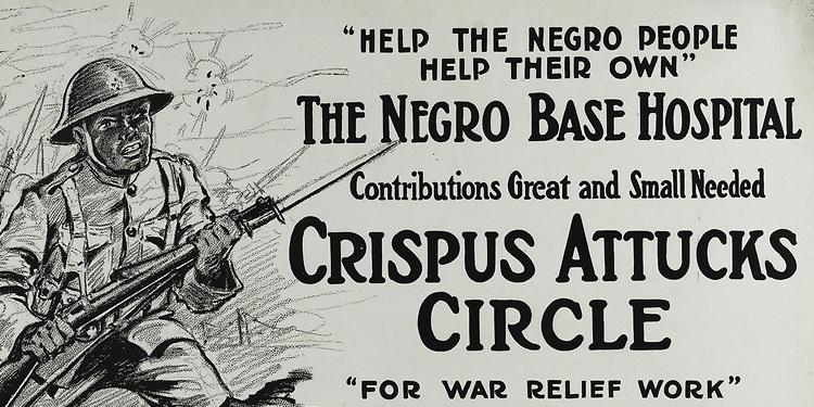Crispus Attucks Circle for War Relief Poster