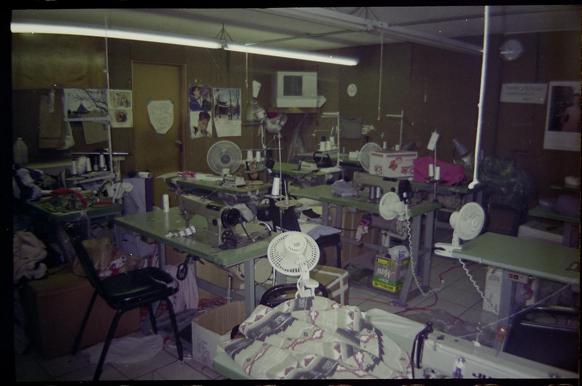 A photograph of a sweatshop.