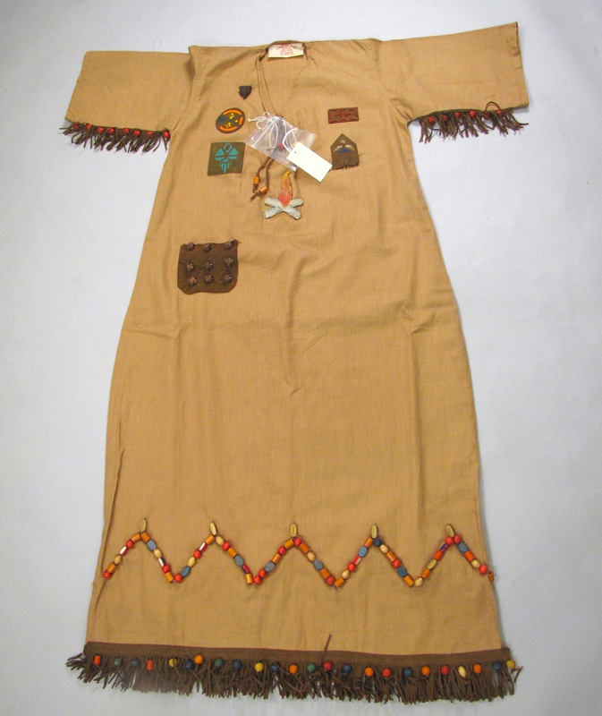 Camp Fire Girls ceremonial garmet with decorative beads