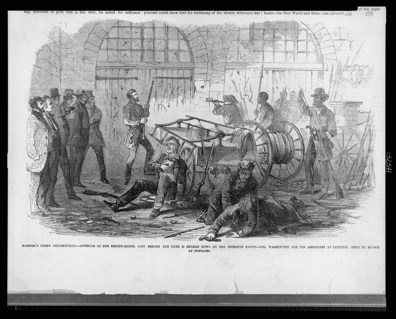 the events during the 1859 john browns raid on the federal arsenal in harpers ferry Why did john brown lead the raid on the federal arsenal at harpers ferry, virginia in 1859 to inspire souther get the answers you need, now.