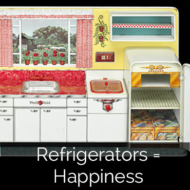 Refrigerators = happiness