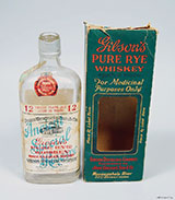 Gibson's pure rye whiskey bottle and box