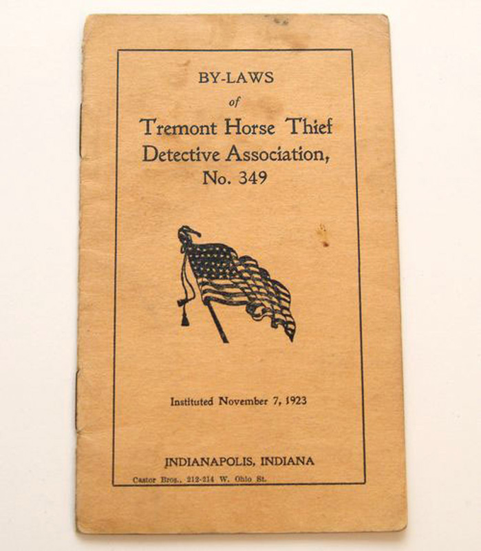 Booklet of bylaws for the Tremont Horse Thief Detective Association