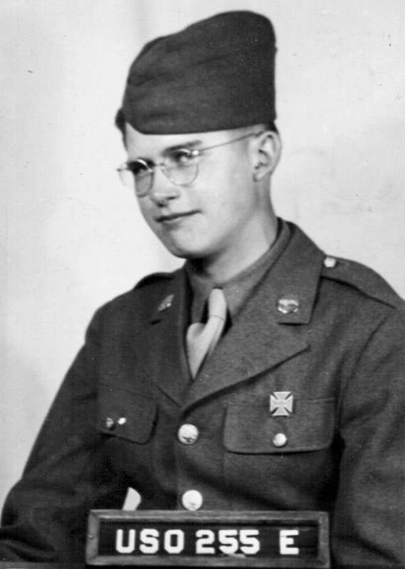 Private Harold D. Langley in uniform
