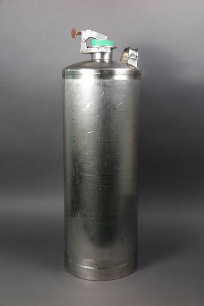 The stainless-steel canister that looks like the type of canisters used to fill up balloons