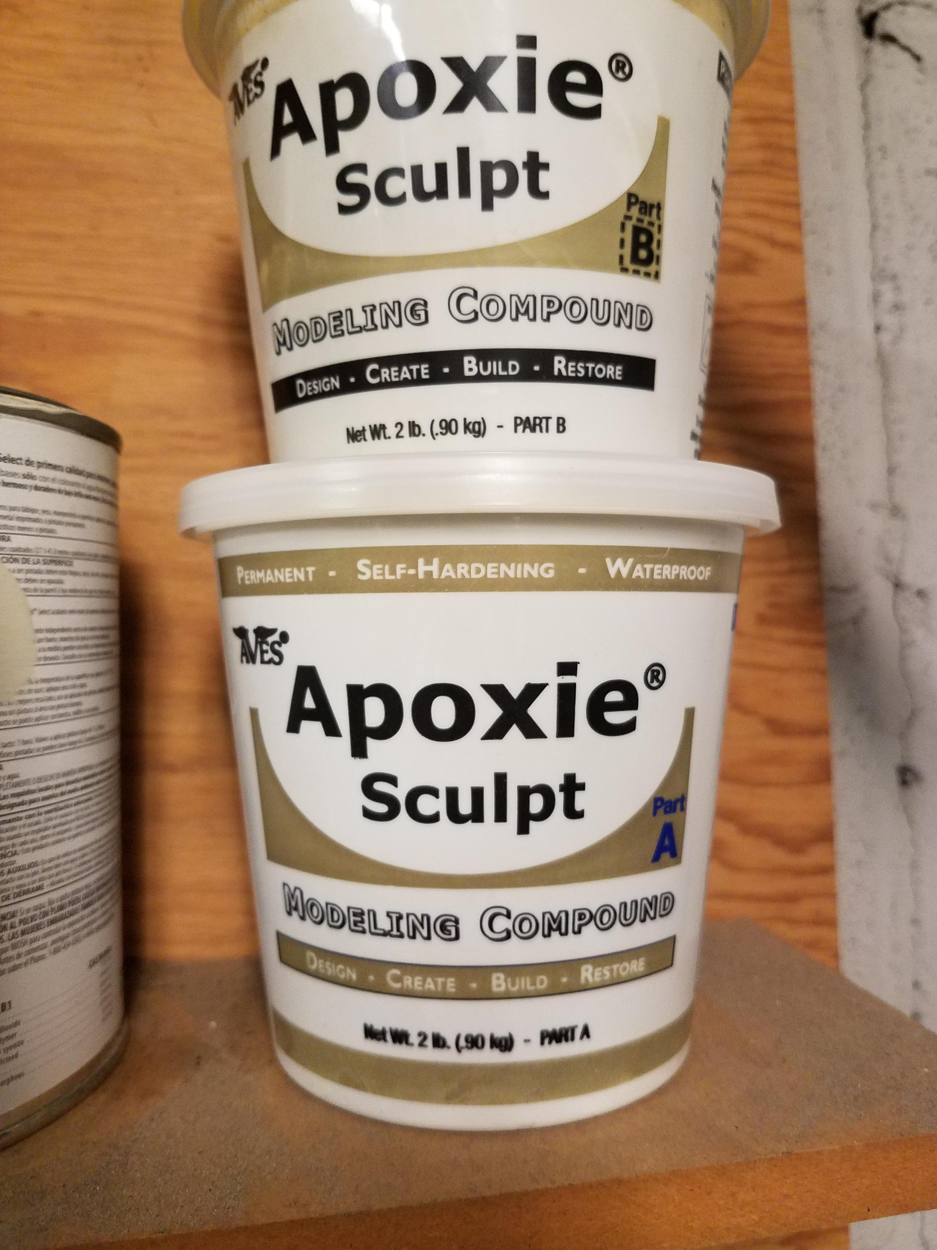 Two containers of Apoxie sculpt